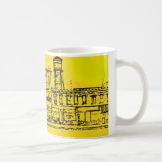 Yellowville houses and homes and water tower coffee mug