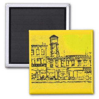 Yellowville houses and homes and water tower magnet