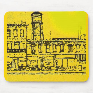 Yellowville houses and homes and water tower mouse pad