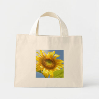 YELOW SUNFLOWER Tiny Tote Bags