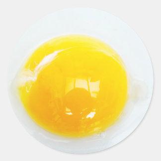 Yema de huevo pegatina redonda