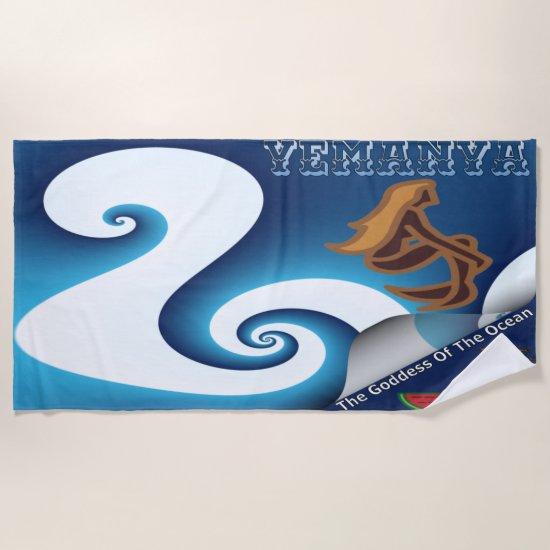 Yemanya The Goddess Of The Ocean Beach Towel