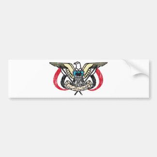 Yemen Coat Of Arms Car Bumper Sticker