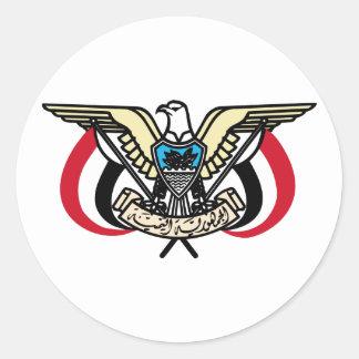 Yemen Coat Of Arms Classic Round Sticker