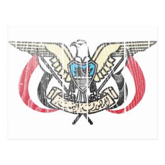 Yemen Coat Of Arms Postcard