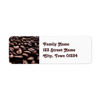 Yemen Coffee Beans Return Address Label