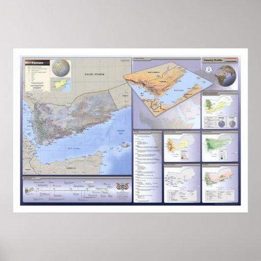 Yemen Detailed Map - 2002 Print