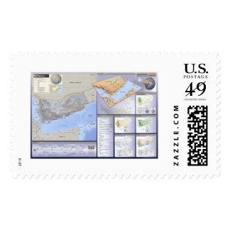 Yemen Detailed Map - 2002 Stamp