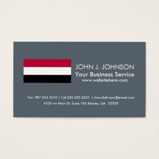 Yemen flag business card