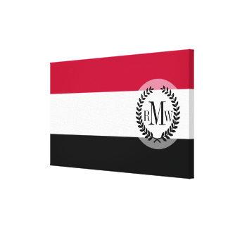 Yemen flag canvas print