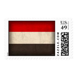 Yemen Flag Distressed Stamps
