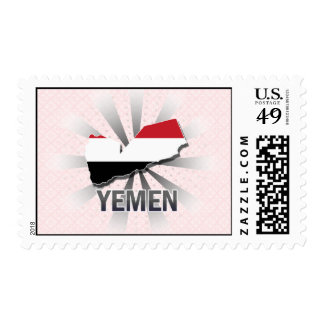 Yemen Flag Map 2.0 Stamp