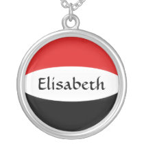 Yemen Flag   Name Necklace