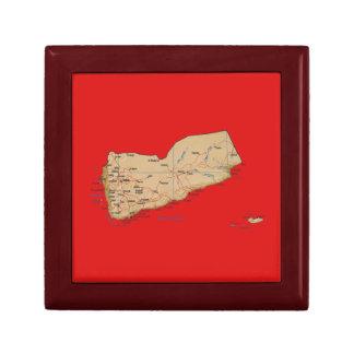 Yemen Map Gift Box