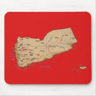 Yemen Map Mousepad
