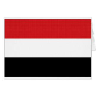 Yemen National Flag Card
