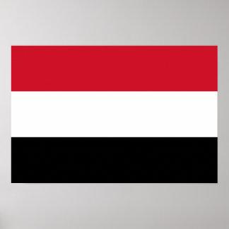 Yemen National Flag Poster