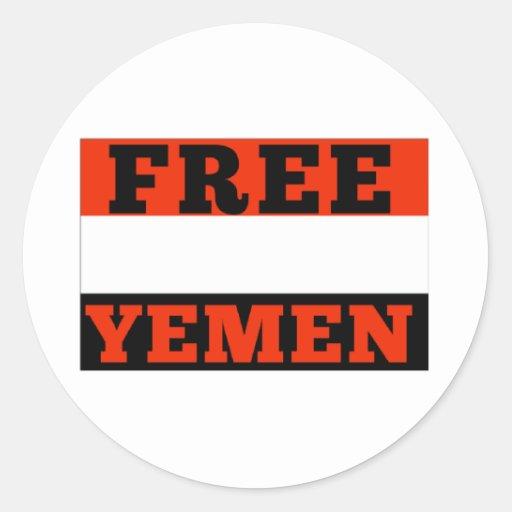 Yemen Pegatina Redonda