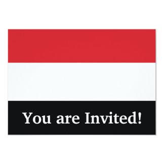 Yemen Plain Flag Card