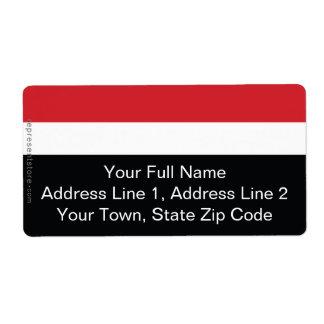 Yemen Plain Flag Label