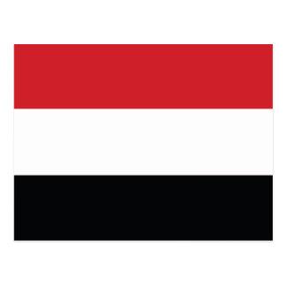 Yemen Plain Flag Postcard