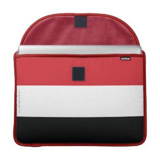 Yemen Plain Flag Sleeve For MacBook Pro