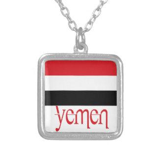 Yemen Square Pendant Necklace