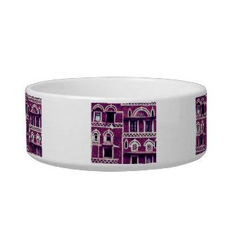 Yemeni facades in purple bowl