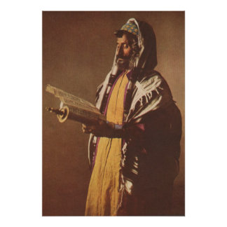 Yemeni Jew, 1914 Nat'l Geographic Mag Illustration Poster