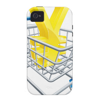 Yen currency shopping cart Case-Mate iPhone 4 cases