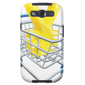 Yen currency shopping cart samsung galaxy SIII cases