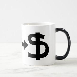 Yen & Dollar 11 Oz Magic Heat Color-Changing Coffee Mug