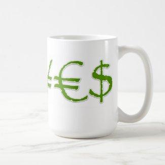 Yen, Euro, Dollar ¥€$ Currency Mug