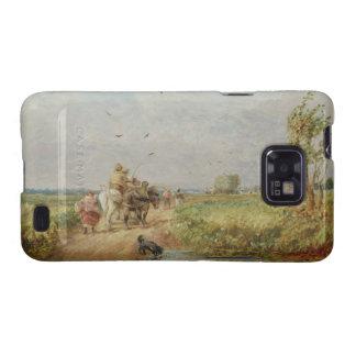 Yendo al henar, 1853 (aceite en cartón para encuad samsung galaxy SII carcasa