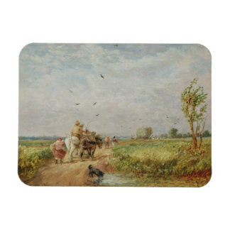 Yendo al henar, 1853 (aceite en cartón para encuad imanes rectangulares