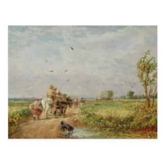 Yendo al henar, 1853 (aceite en cartón para tarjetas postales
