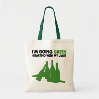 Yendo cerveza verde, divertida bolsa de mano