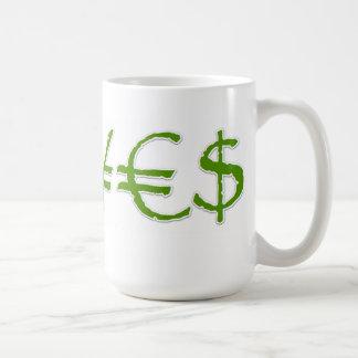 Yenes, euro, taza de la moneda del dólar ¥€$
