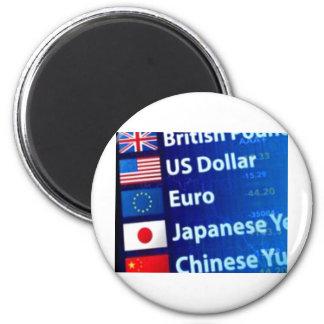 Yenes euro Yuan del dólar de las monedas extranjer Imán Redondo 5 Cm
