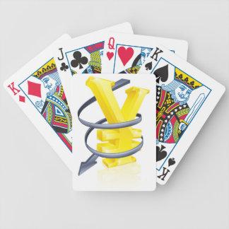 Yenes que caen baraja de cartas
