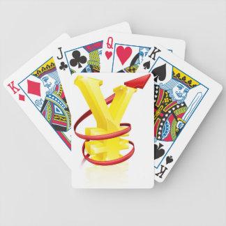 Yenes que caen baraja cartas de poker
