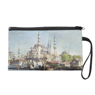 Yeni Jami and St. Sophia from the Golden Horn, pla Wristlet Purses