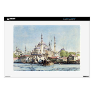 Yeni Jami and St. Sophia from the Golden Horn, pla Decal For Laptop