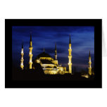 Yeni Valide Mosque at Night Card