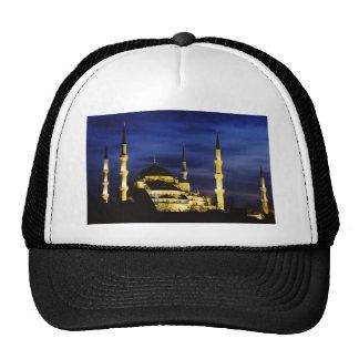 Yeni Valide Mosque at Night Mesh Hat