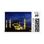 Yeni Valide Mosque at Night Postage