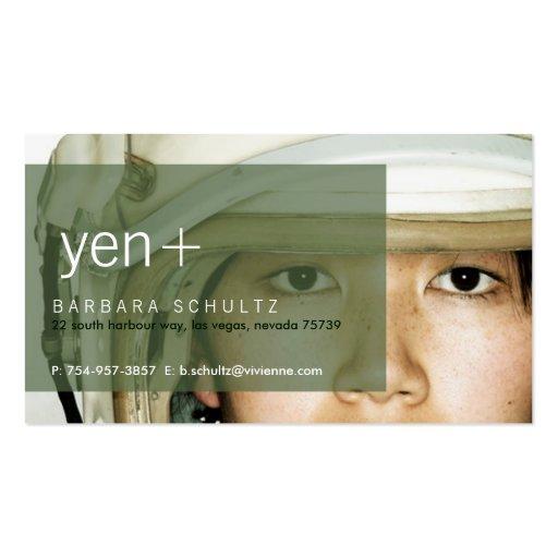Yen's Face [green] Business Cards