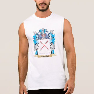 Yeoman Coat of Arms - Family Crest Sleeveless T-shirts
