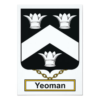 Yeoman Family Crest 4.5x6.25 Paper Invitation Card