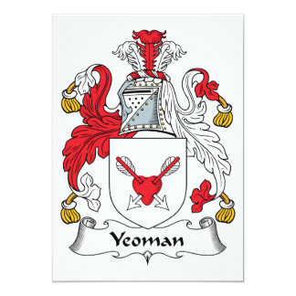 Yeoman Family Crest 5x7 Paper Invitation Card
